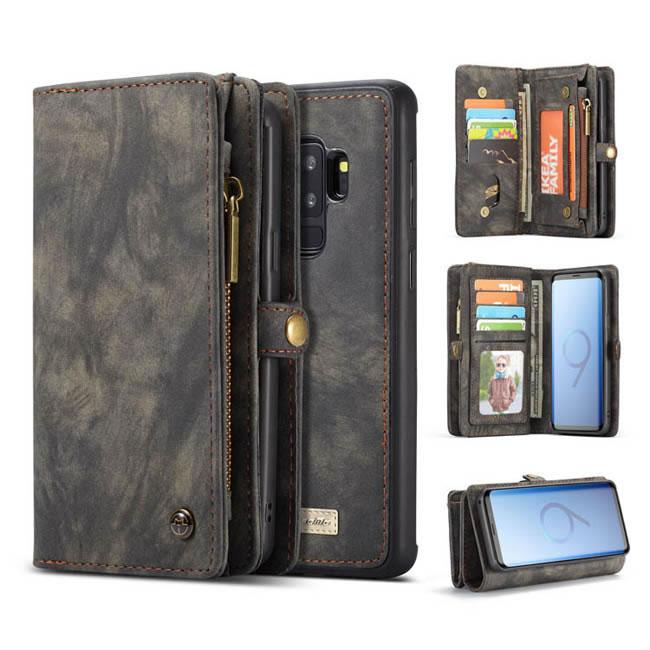 official photos b9d1e 4c608 CaseMe Samsung Galaxy S9 Plus Detachable Wallet Case With Wrist Strap Black