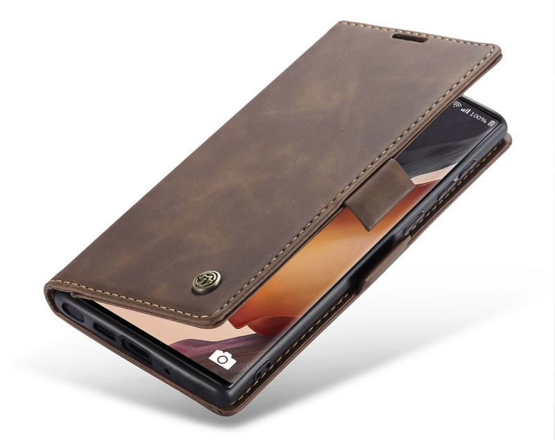 CaseMe Samsung Galaxy Note 20 Ultra Wallet Leather Magnetic Flip Case Coffee