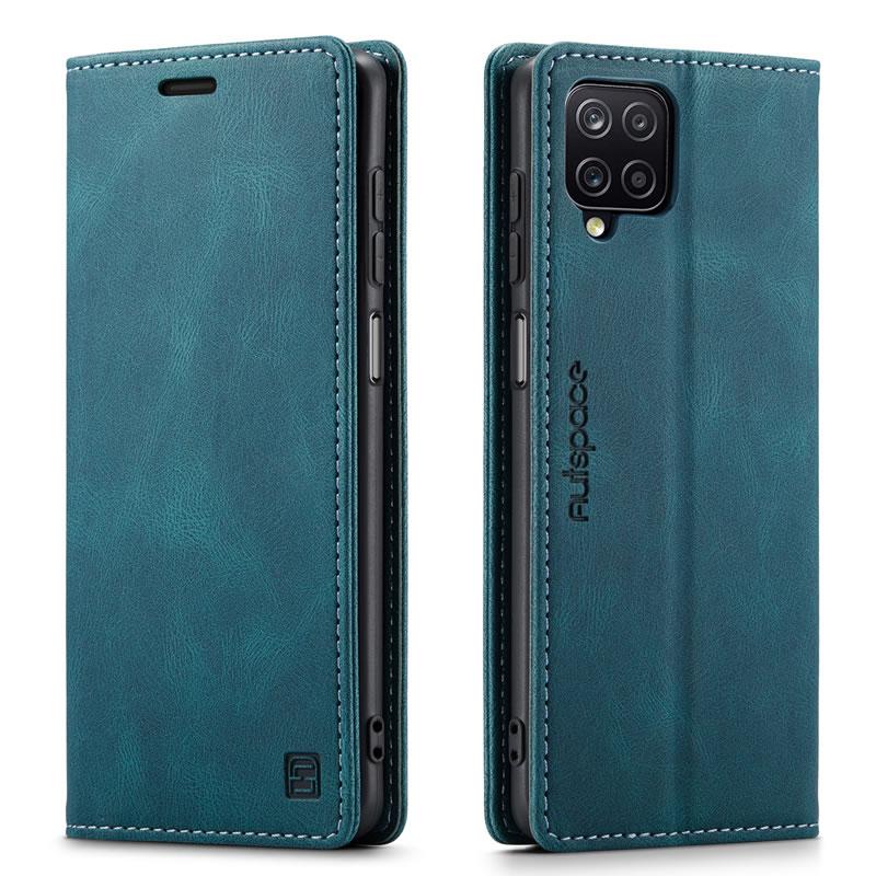 AutSpace Samsung Galaxy A12 5G Leather Wallet Case